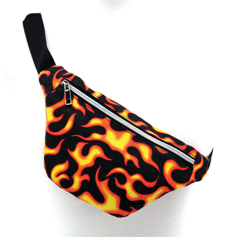 Flame Fanny Pack in Canvas Material, sling style front view