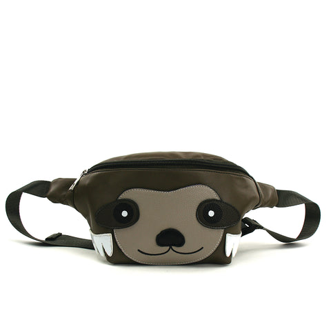 Sloth Fanny Pack in Vinyl front view