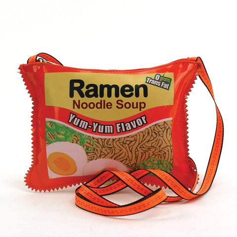Ramen Instant Noodle Soup Crossbody Bag in Vinyl front view