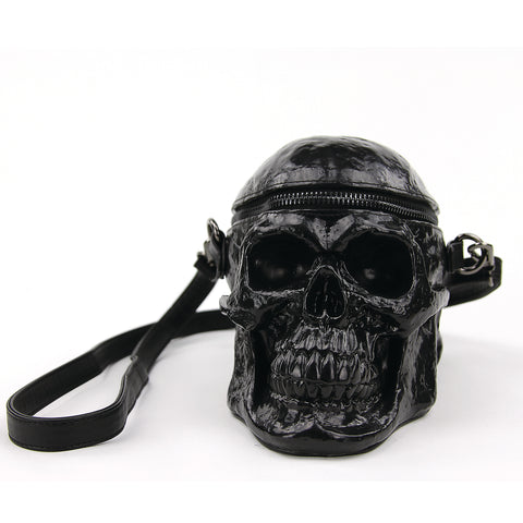 Full Skull Purse in Vinyl front view