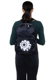 Eyeball Pocket Backpack in Polyester, backpack style on model