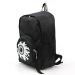 Eyeball Pocket Backpack in Polyester side view