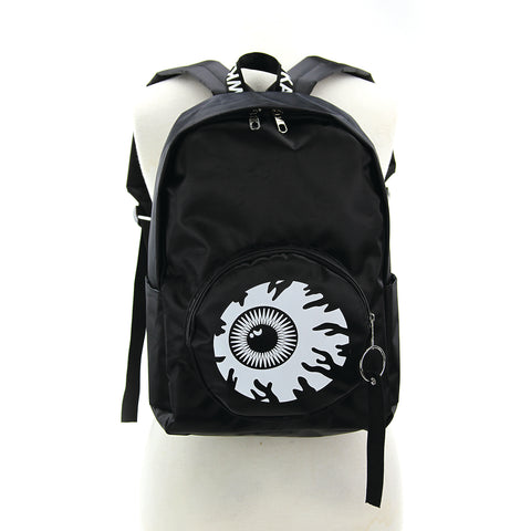 Eyeball Pocket Backpack in Polyester front view