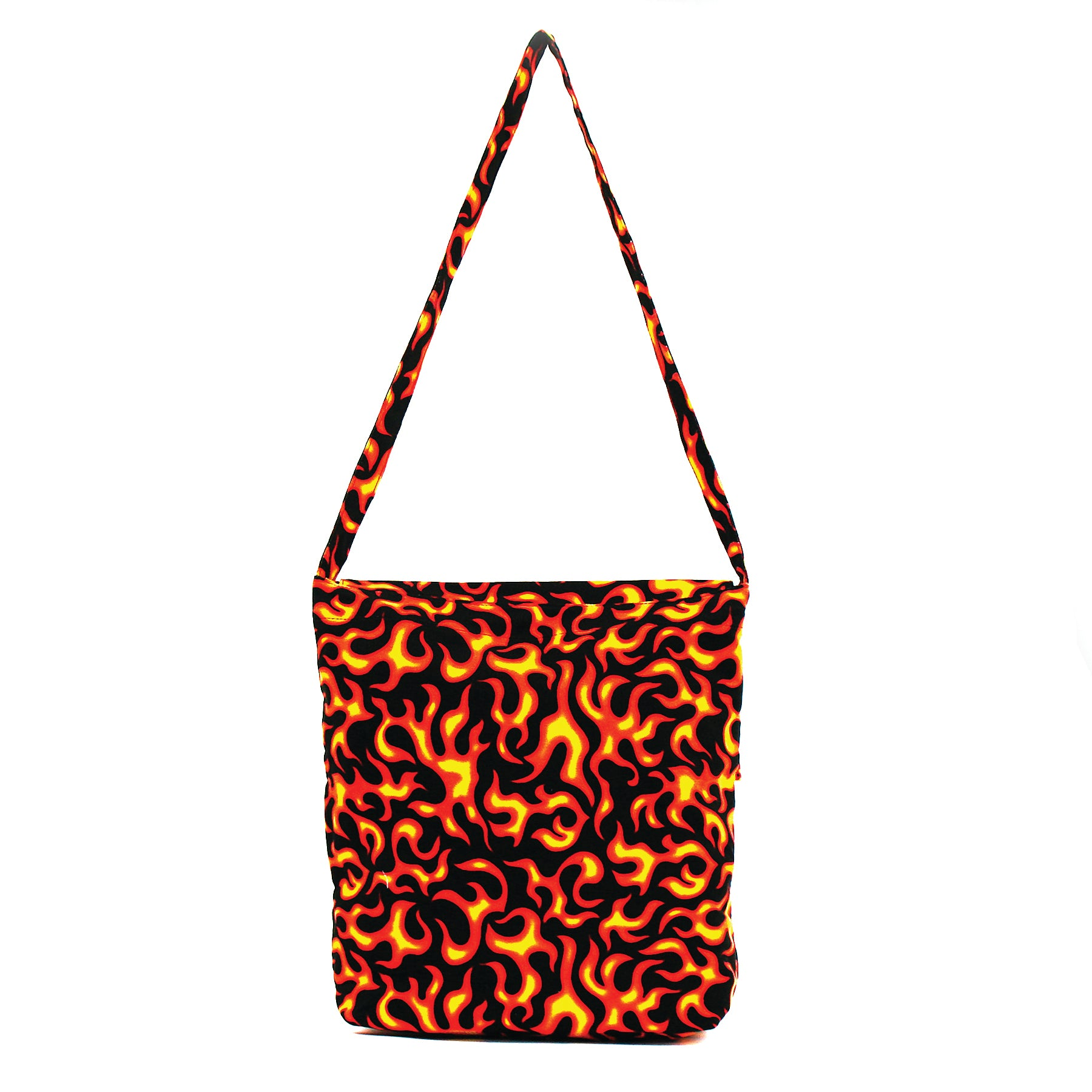 Flame Hobo Bag in Canvas Material front view