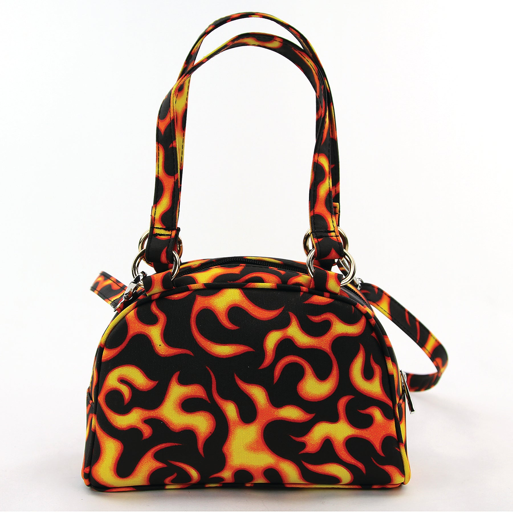 Small Flame Satchel in Canvas Material front view