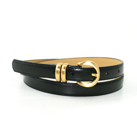 3/4 Inch Width Fashion Belt In Synthetic Material  front view