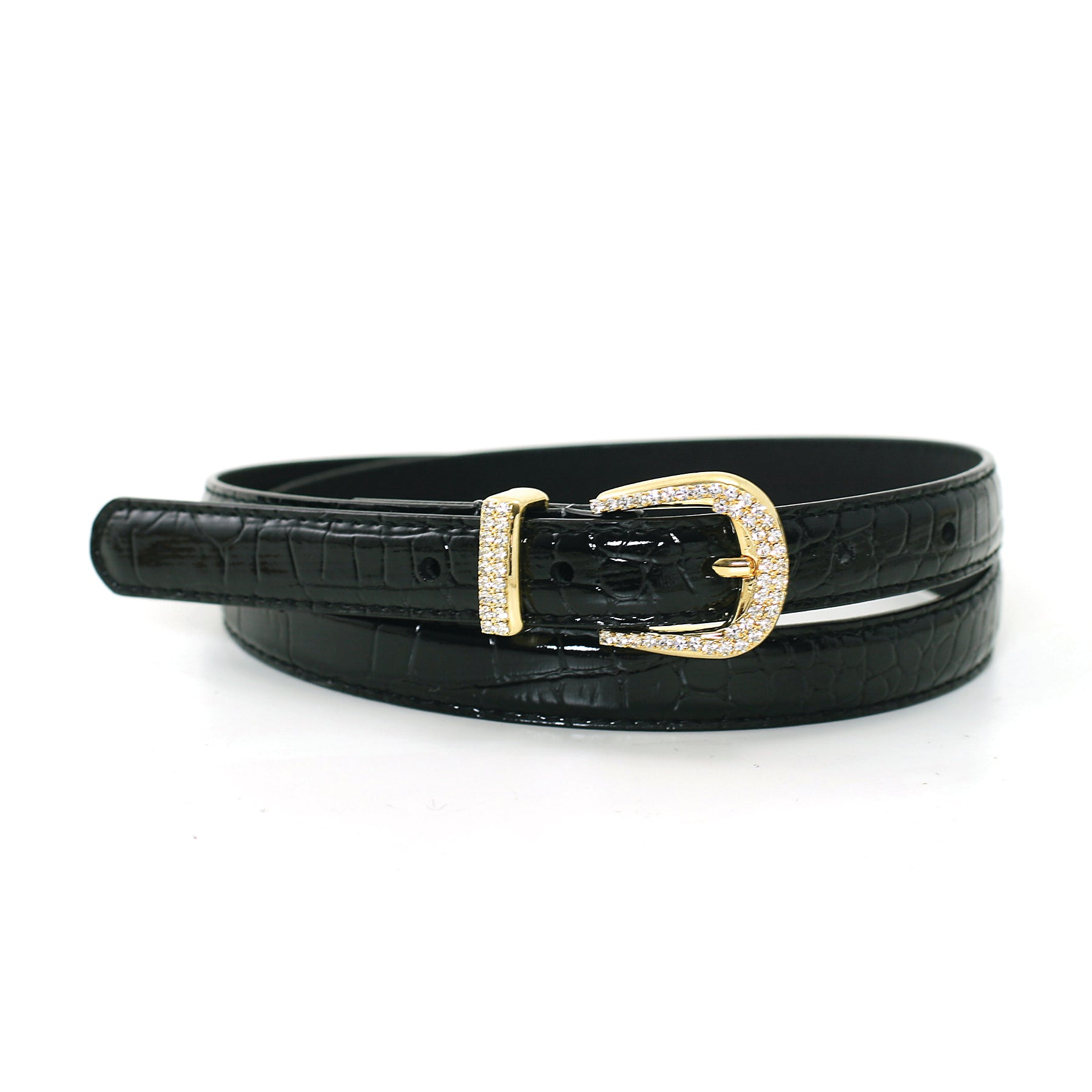 Women's Classic Fashion Leatherette Belt front view