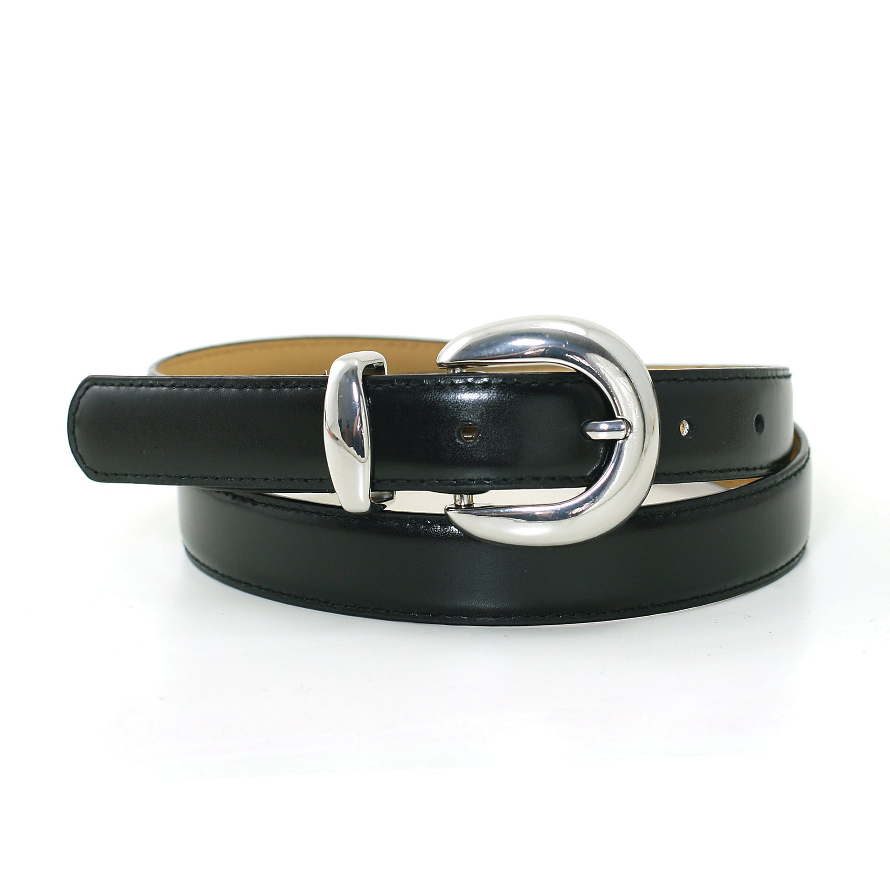 1 Inch Width Fashion Belt In Synthetic Material  front view