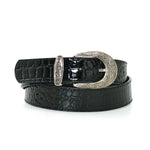 Women's 1 1/4 Inch Width Fashion Belt In Synthetic Material front view