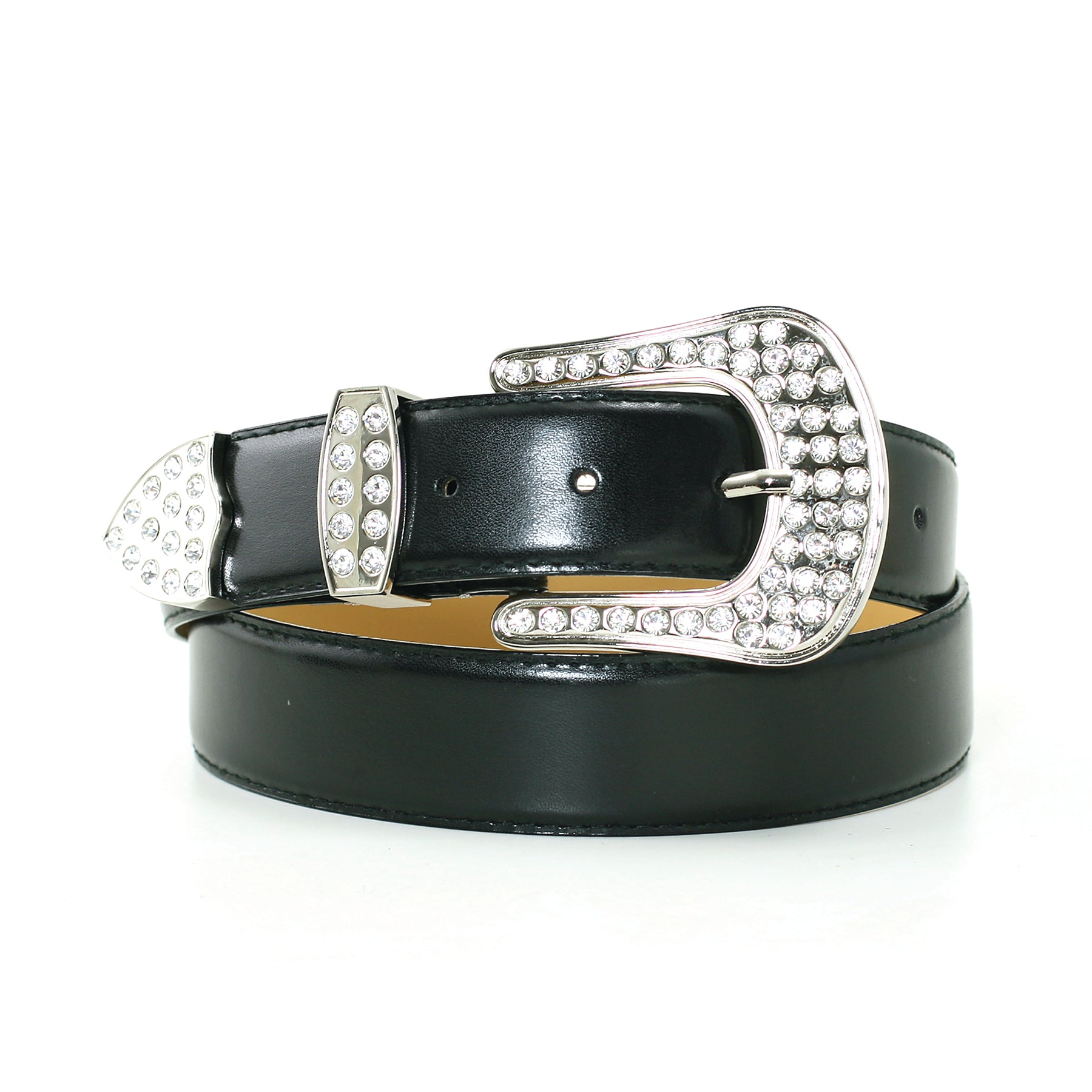 1 1/4 Inch Width Fashion Belt In Synthetic Material front view