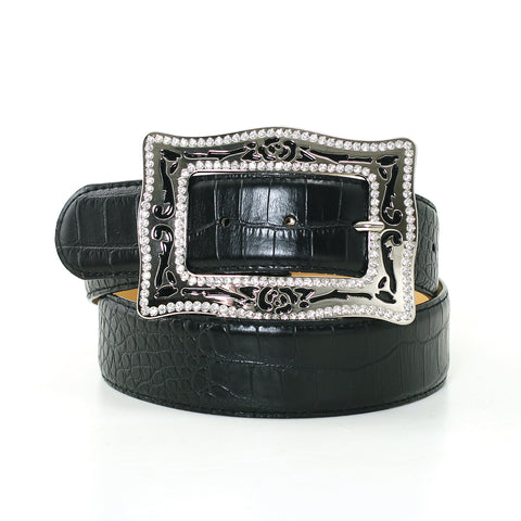 1 1/2 Inch Width Fashion Belt In Synthetic Material front view