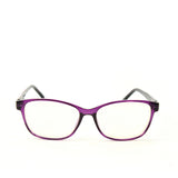 Blue Light Blocking Glasses, purple color, front view