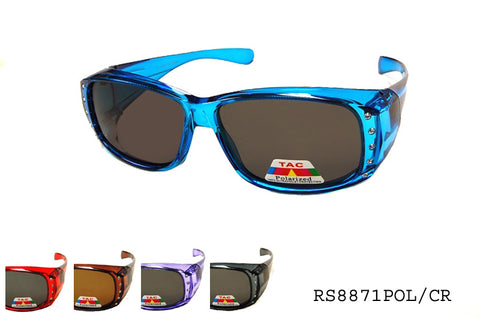 RS8871POL/CR Fit Over Sunglasses, front view