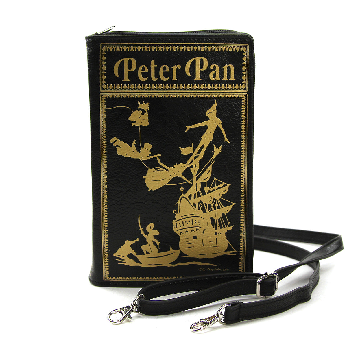 Peter Pan Book Clutch Bag in Vinyl Material front view