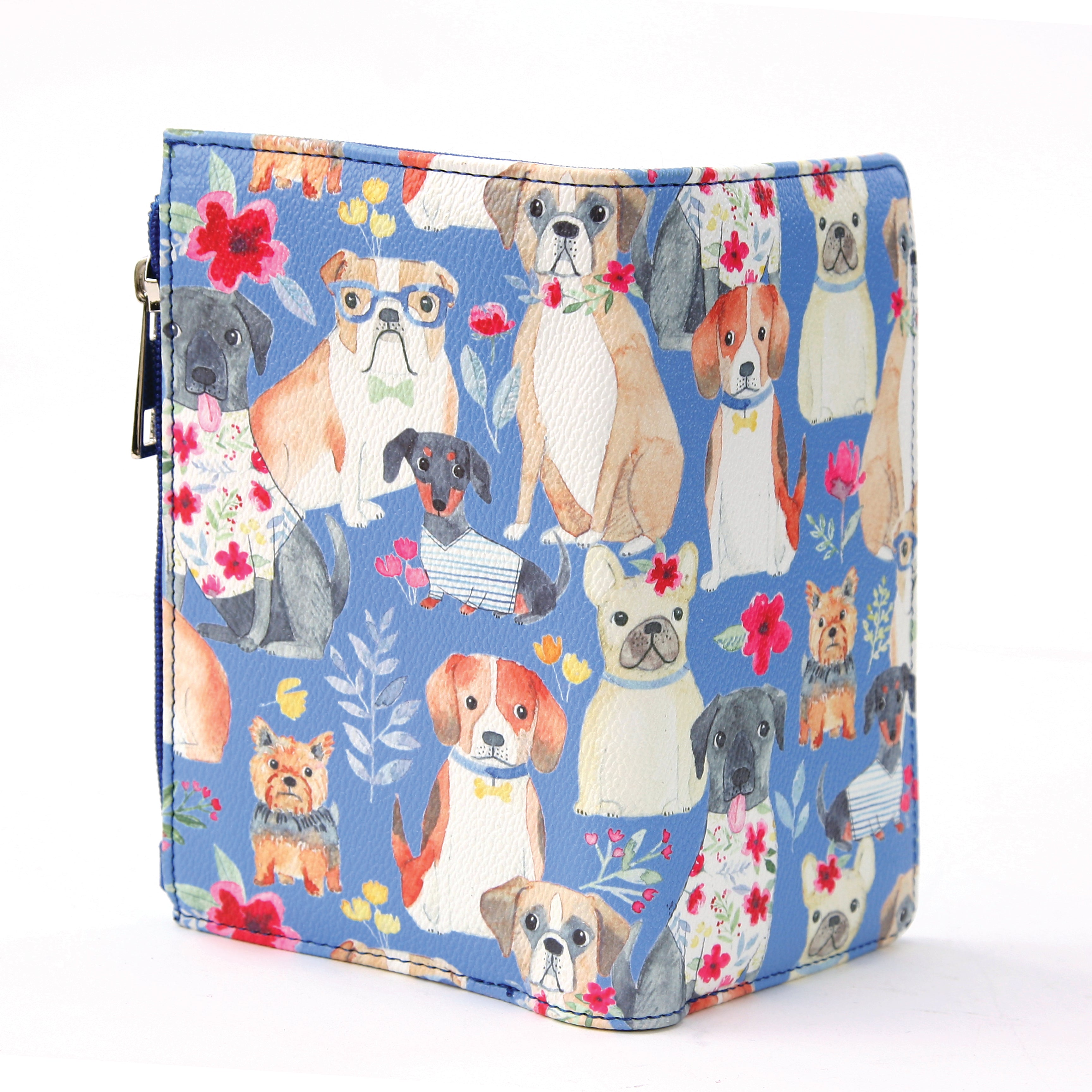 Dogs with Flowers wallet full view