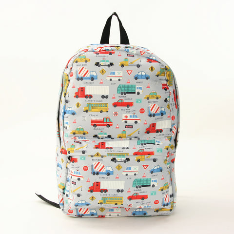 Transportation Backpack in Polyester Material front view