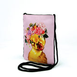 Duck in Floral Crown Crossbody Pouch in Polyester side view