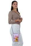 Duck in Floral Crown Crossbody Pouch in Polyester, shoulder bag style on model