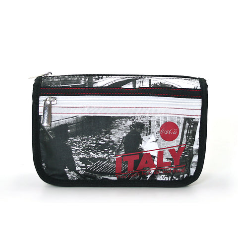 coca-cola cosmetic bag front view