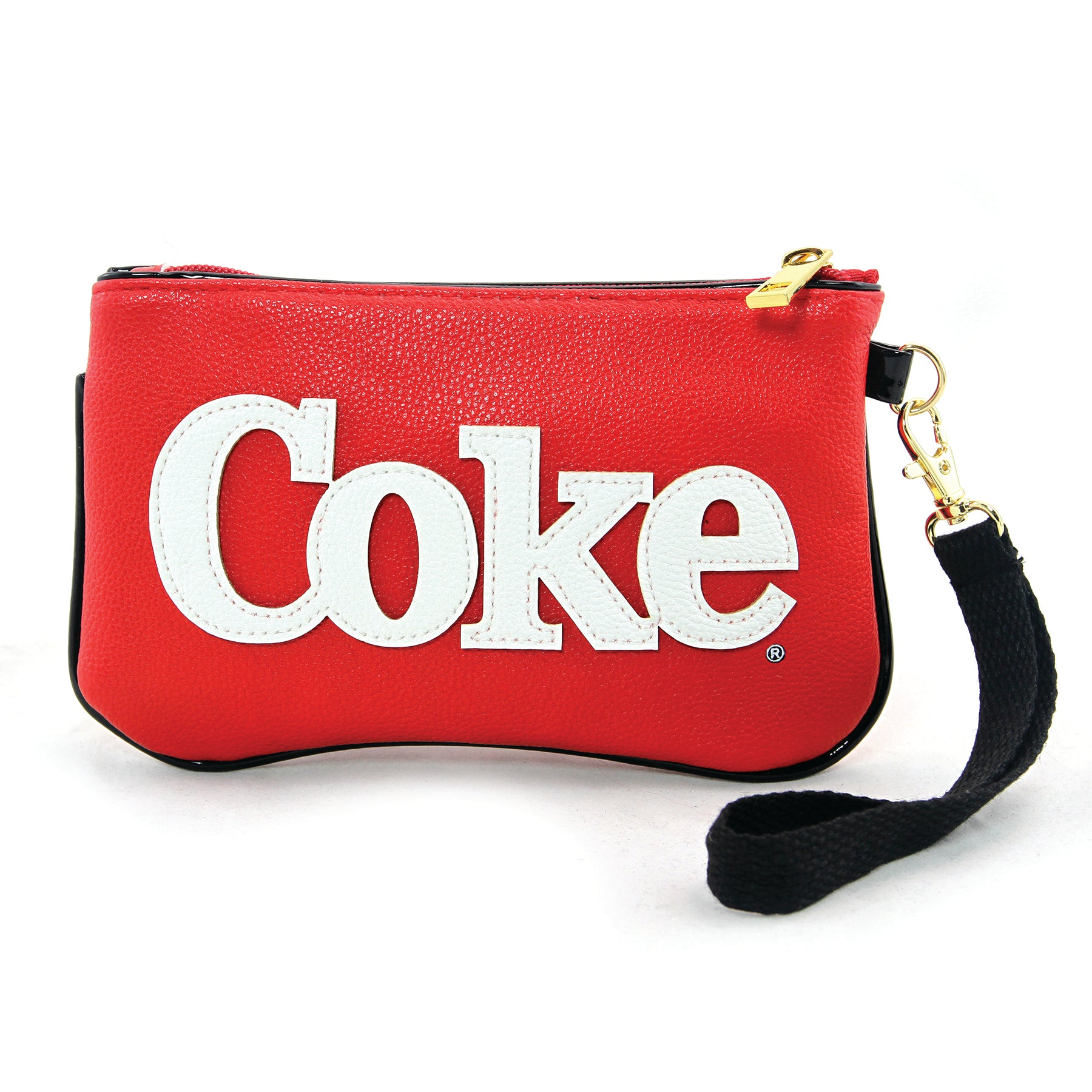 Coca-cola wristlet frontal view