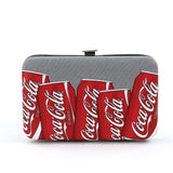 coca cola flat wallet front view
