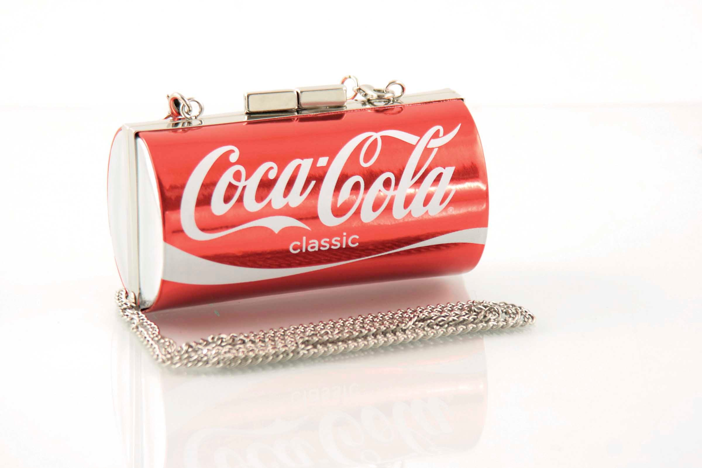 coke can bag front view
