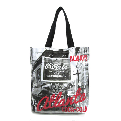 coca cola atlanta tote bag front view
