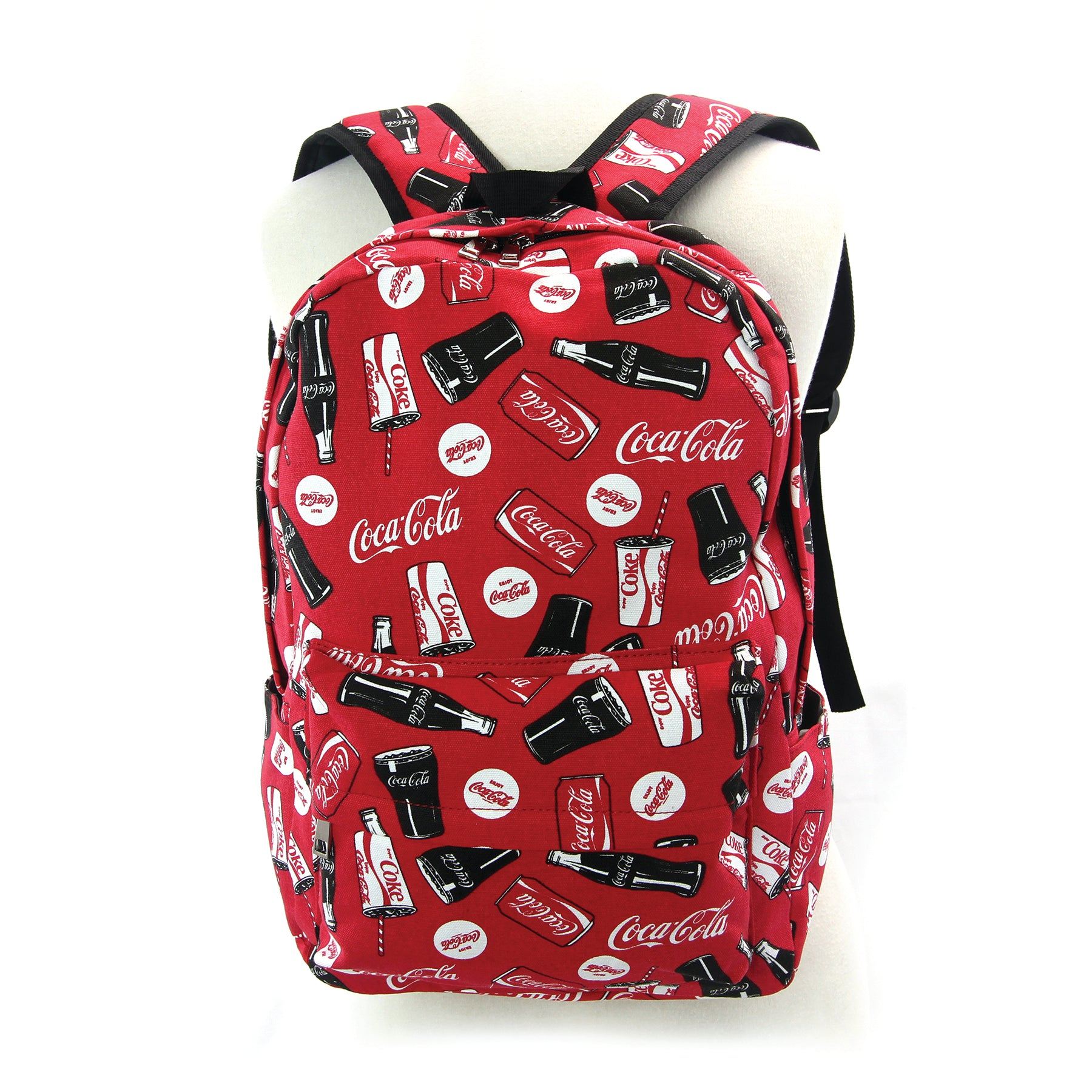 Coca-cola backpack frontal view