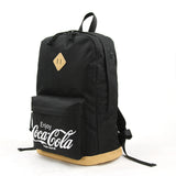 Enjoy Coca-Cola canvas backpack side view