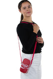 Officially Licensed Coca-Cola Hero Cross Body Bag, shoulder bag style on model