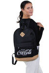 Officially Licensed Coca-Cola Script Rucksack, backpack style on model