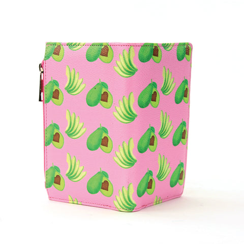 Avocado Wallet in Vinyl Material front view