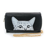 Peeking Cats Wallet in Vinyl Material front view