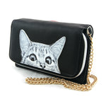 Peeking Cats Wallet in Vinyl Material side view