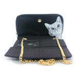 Peeking Cats Wallet in Vinyl Material interior view