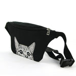 Peeking Cat Fanny in Polyester Material side view