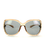 Sunglasses Made with Swarovski Elements, beige color, front view