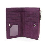 purple space cat wallet interior view
