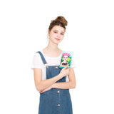 Unibrow Girl with Black Cat Wallet in Vinyl Material, model