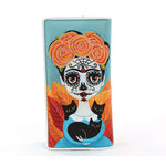 Sugar Skull Girl Wallet in Vinyl Material close front view