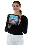 Happy Cat Shoulder Bag in Vinyl Happy Cat Shoulder Bag in Vinyl Material, handheld style on model