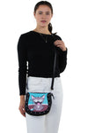 Happy Cat Shoulder Bag in Vinyl Happy Cat Shoulder Bag in Vinyl Material, crossbody style on model
