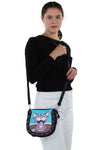 Happy Cat Shoulder Bag in Vinyl Happy Cat Shoulder Bag in Vinyl Material, shoulder bag style on model