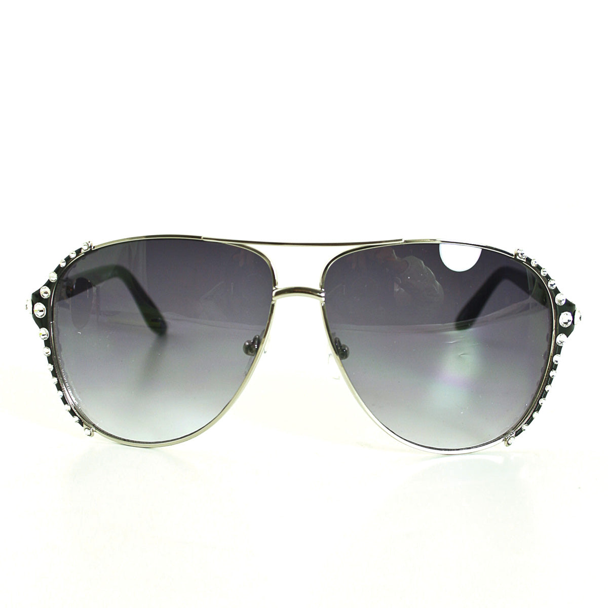 Sunglasses Made with Swarovski Elements, brown color, front view