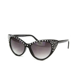 Sunglasses Made with Swarovski Elements, black color, side view