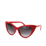 Sunglasses Made with Swarovski Elements, red color, side view