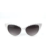 Sunglasses Made with Swarovski Elements, white color, front view