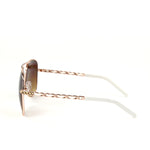 Sunglasses Made with Swarovski Elements, white color, side view