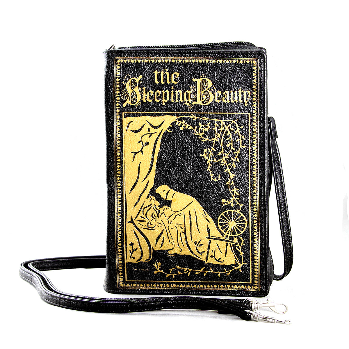 The Sleeping Beauty Vintage Book Clutch Bag in Vinyl, front view