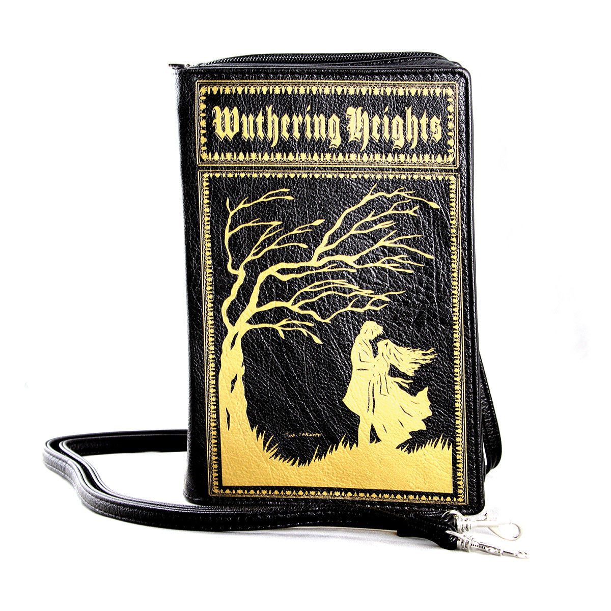 Wuthering Heights Vintage Book Clutch Bag in Vinyl, front view
